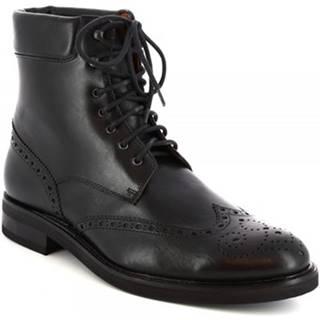 Polokozačky Leonardo Shoes  07331/FORMA 40 FULL NERO