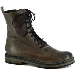 Polokozačky Leonardo Shoes  612 GRIGIO
