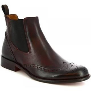 Polokozačky Leonardo Shoes  T030 BLEU PEPERONCINO