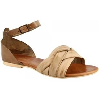 Sandále Leonardo Shoes  PC69X CAPRA FANGO