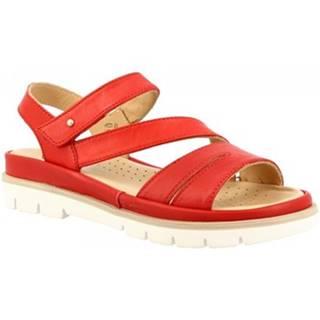 Sandále Leonardo Shoes  VI-24 ROSSO