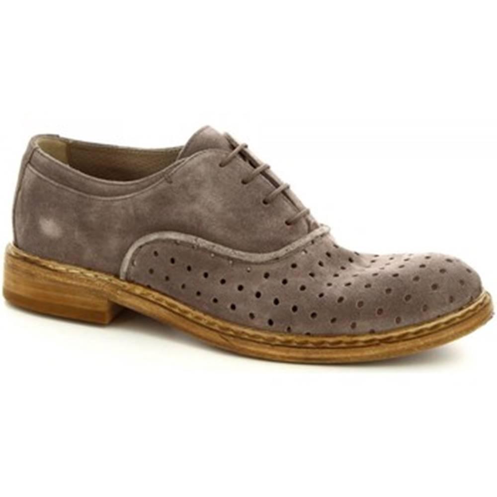 Leonardo Shoes Derbie Leonardo Shoes  M681-23 WASHSAVANA PERLA