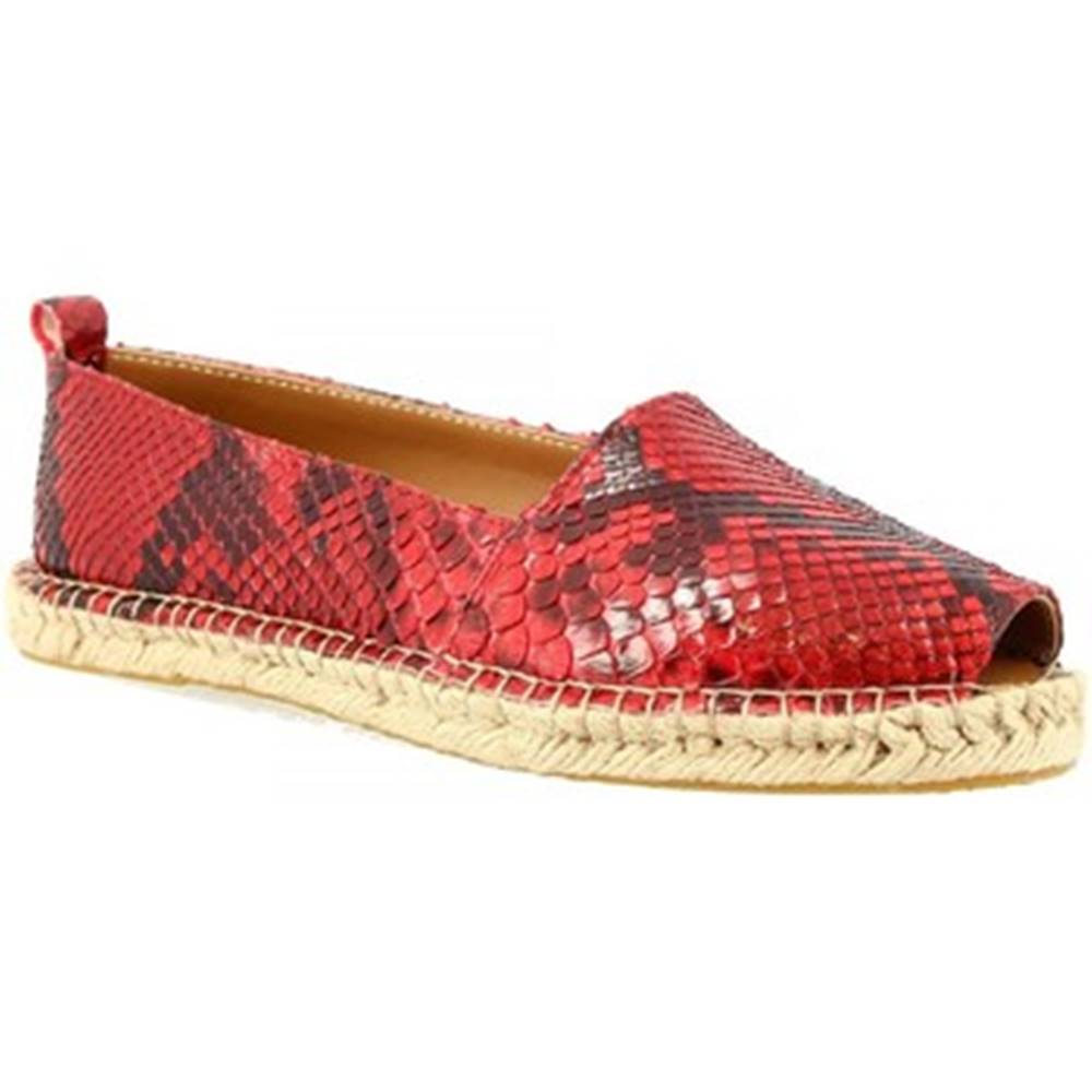 Leonardo Shoes Espadrilky Leonardo Shoes  3360 ESPA PITONE ROSSO