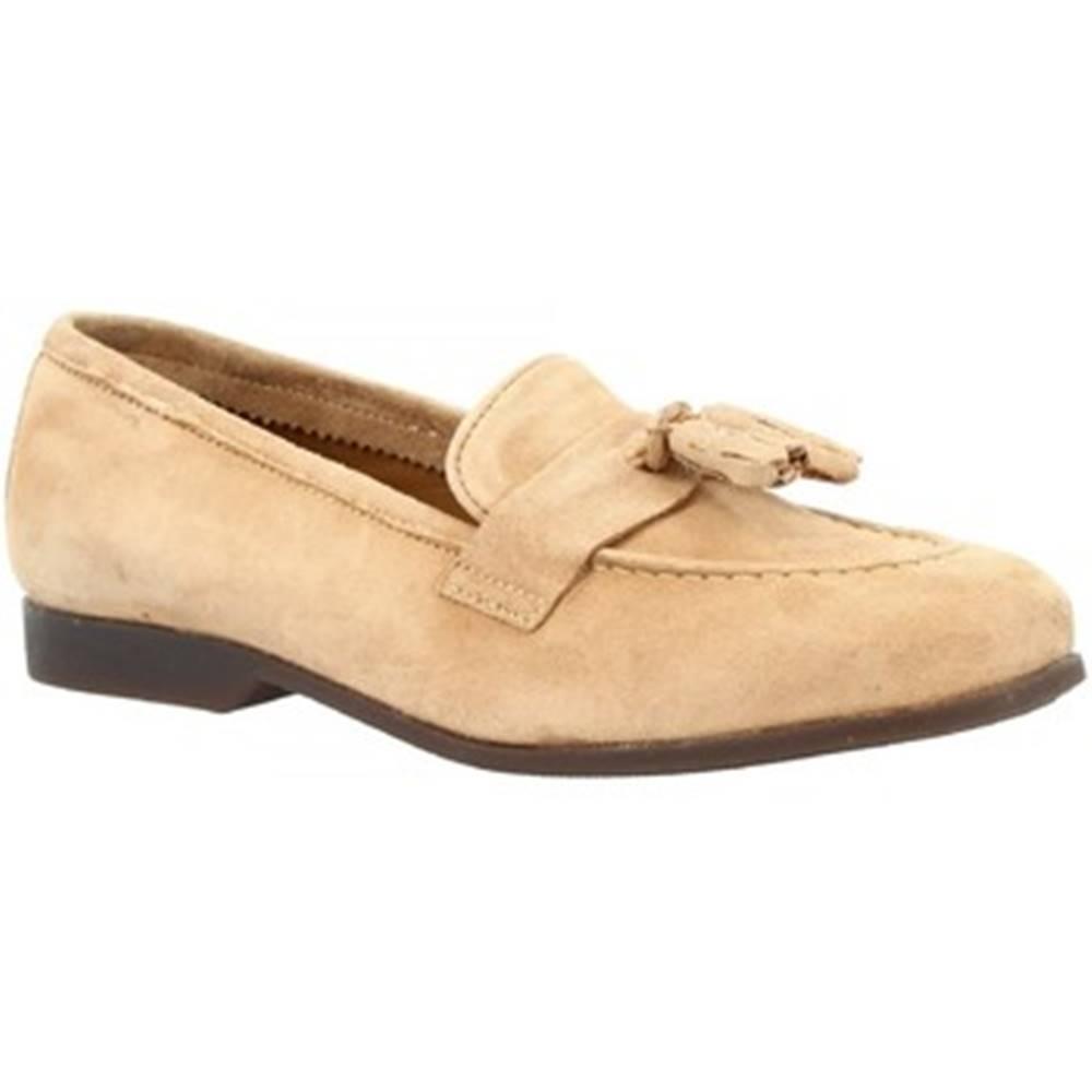 Leonardo Shoes Mokasíny Leonardo Shoes  TOR02 VELUR TAUPE
