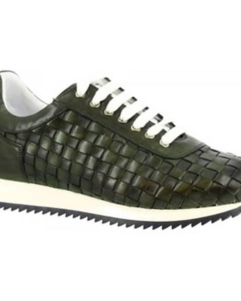 Zelené tenisky Leonardo Shoes