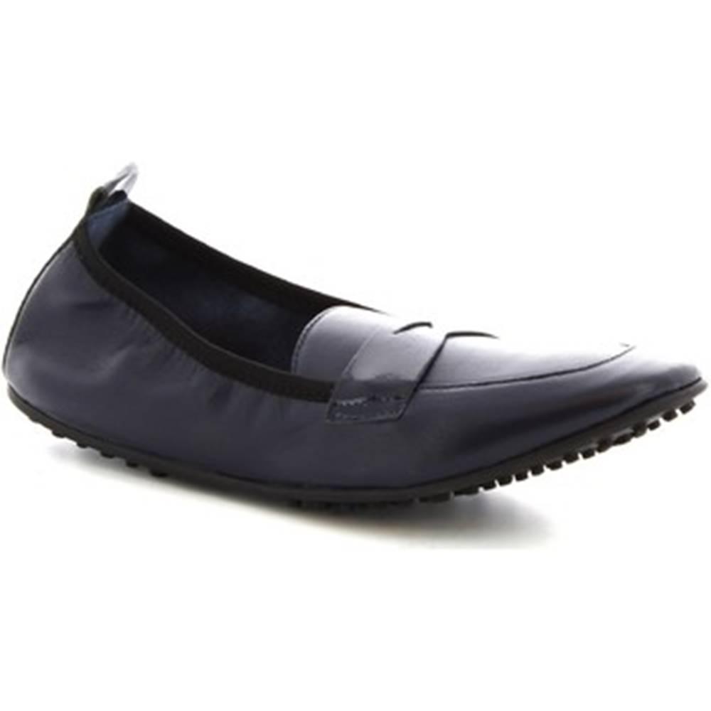Leonardo Shoes Balerínky/Babies Leonardo Shoes  384-13/1102 NAPPA BLU