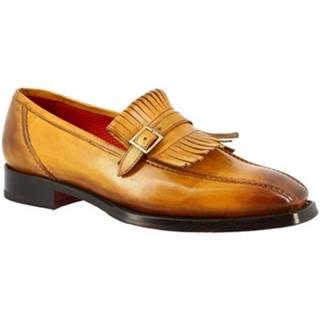 Mokasíny Leonardo Shoes  9573E20 TOM MONTECARLO AV GIALLO