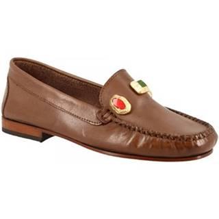 Sandále Leonardo Shoes  558 VITELLO CAPPUCCINO