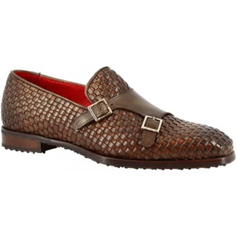 Leonardo Shoes Mokasíny Leonardo Shoes  9569E20 VITELLO DELAVE TAUPE