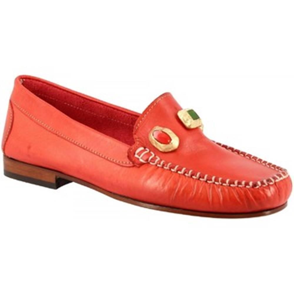 Leonardo Shoes Sandále Leonardo Shoes  558 VITELLO ROSSO