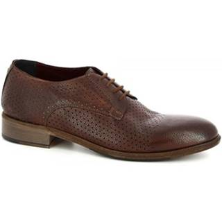 Derbie Leonardo Shoes  34302/2 BUFALO CHESTNUT - FORATO ART 32