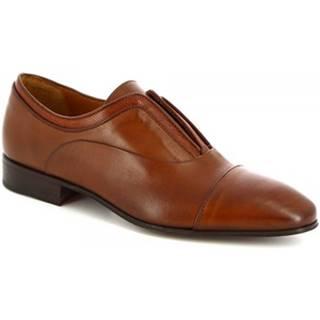 Mokasíny Leonardo Shoes  13604-E F. 136 CUOIO FILETTO TDM