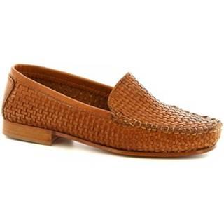 Mokasíny Leonardo Shoes  193 INVECCHIATO SPESSORE SELLA