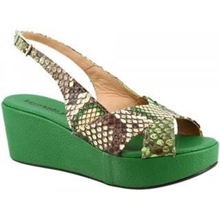 Sandále Leonardo Shoes  3378 TONI PITONE VERDE