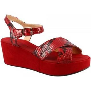 Sandále Leonardo Shoes  3408 TONI CAMOSCIO ROSSO