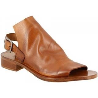Sandále Leonardo Shoes  K106 WASH MARRONE