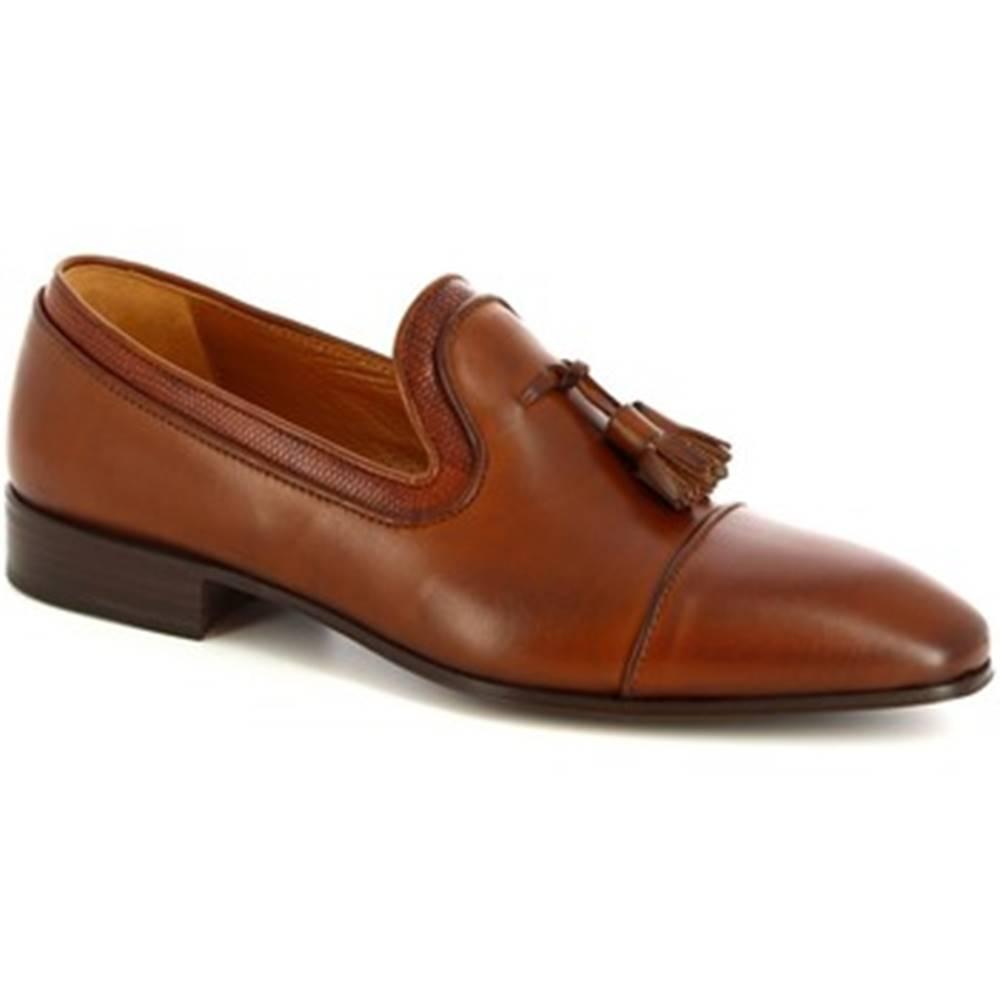 Leonardo Shoes Mokasíny Leonardo Shoes  13605-E F. 136 CUOIO FILETTO TDM