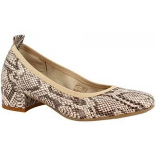 Lodičky Leonardo Shoes  2381/JESSICA PITEN BEIGE