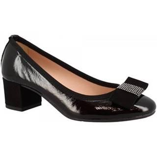 Lodičky Leonardo Shoes  3056 NAPLAK NERO