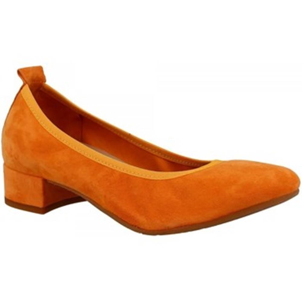 Leonardo Shoes Lodičky Leonardo Shoes  2381/JESSICA CAMOSCIO ARANCIO