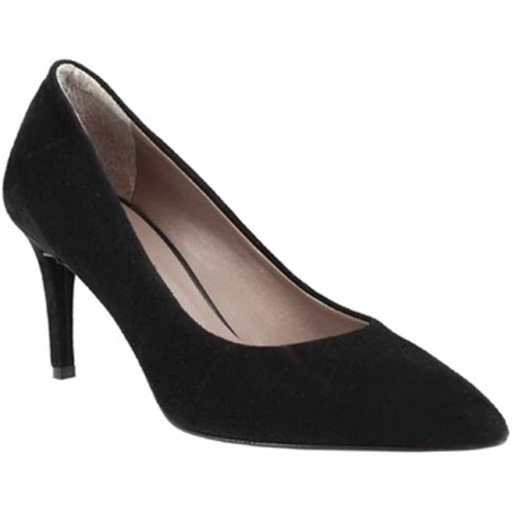Leonardo Shoes Lodičky Leonardo Shoes  706 CAMOSCIO NERO