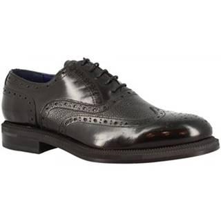 Derbie Leonardo Shoes  1018-1 PE ABBRASIVA NERO