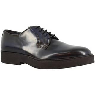 Derbie Leonardo Shoes  730-16 PE ABBRASIVA BLU
