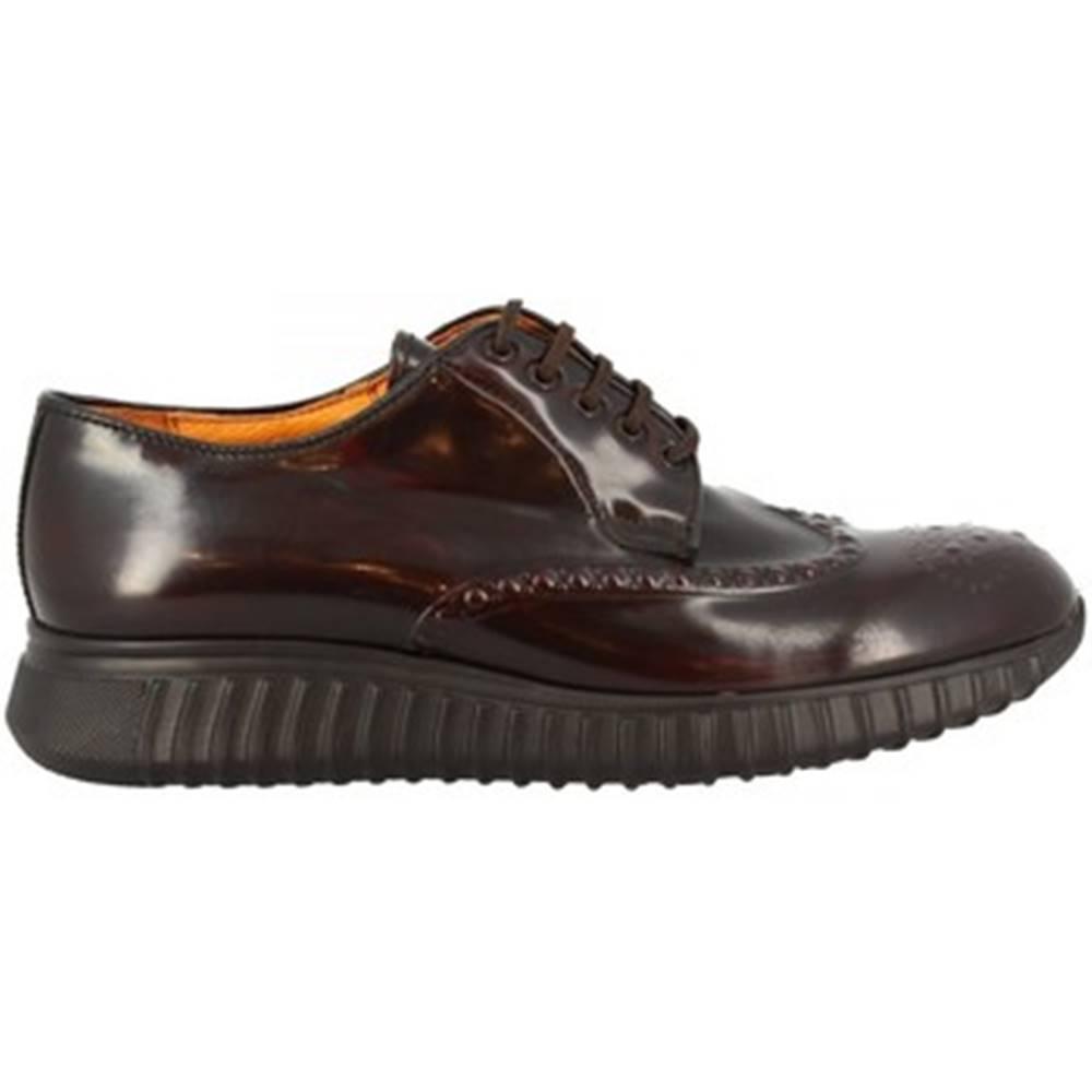 Leonardo Shoes Derbie Leonardo Shoes  153-69 PE ABBRASIVA BORDEAUX