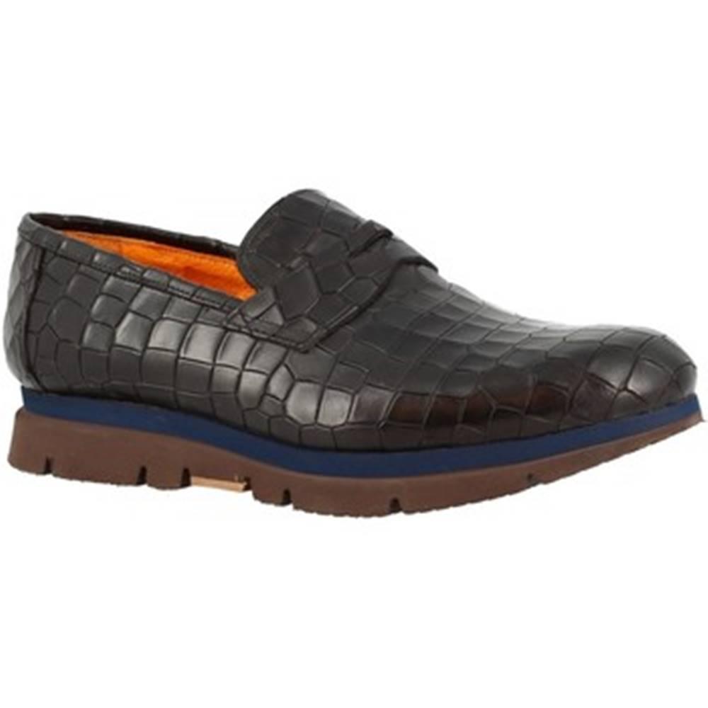 Leonardo Shoes Mokasíny Leonardo Shoes  3865-6 COCCO NERO
