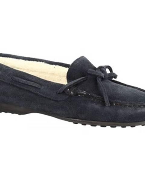 Modré papuče Leonardo Shoes