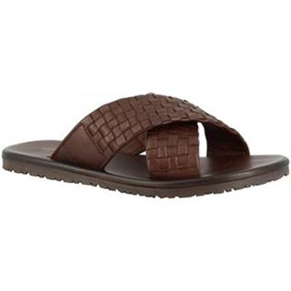Šľapky Leonardo Shoes  M5728 MARRONE