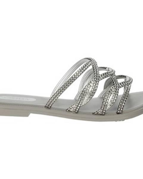 Strieborné topánky Grendha