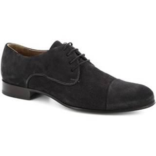 Derbie Leonardo Shoes  05096 CAMOSCIO GORAIN LAVAGNA