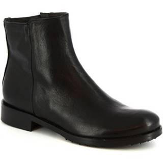 Polokozačky Leonardo Shoes  600 ROK NERO