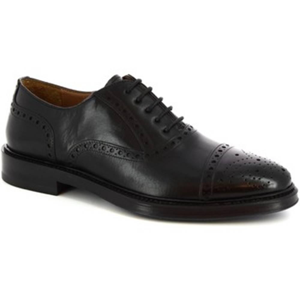 Leonardo Shoes Derbie Leonardo Shoes  7173 VITELLO NERO