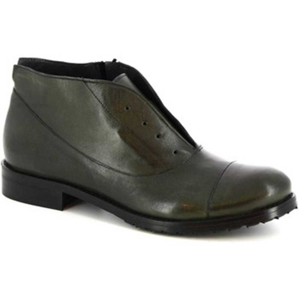 Leonardo Shoes Polokozačky Leonardo Shoes  05 ROK VERDE