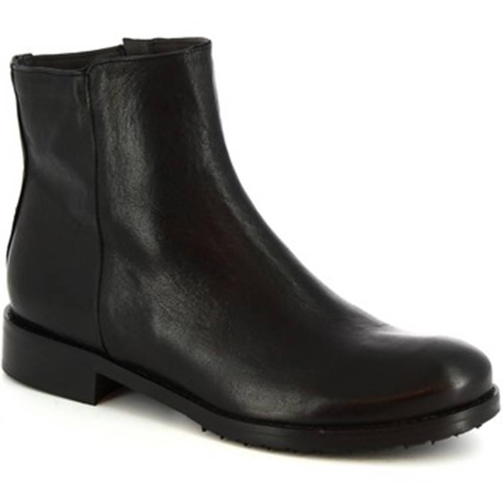 Leonardo Shoes Polokozačky Leonardo Shoes  600 ROK NERO