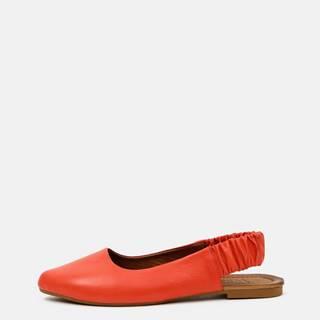 Červené kožené baleríny WILD