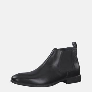 Čierne pánske kožené chelsea topánky s.Oliver
