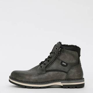 Šedé pánske členkové zimné topánky Tom Tailor