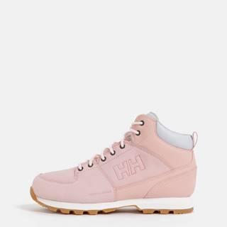 Rúžové dámske kožené členkové topánky HELLY HANSEN Tsuga