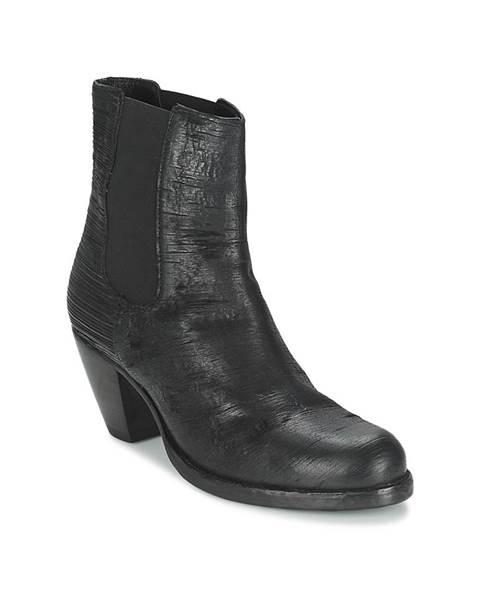 Čierne topánky Fred de la Bretoniere