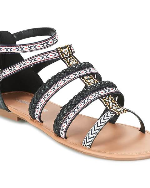 Čierne sandále Buffalo