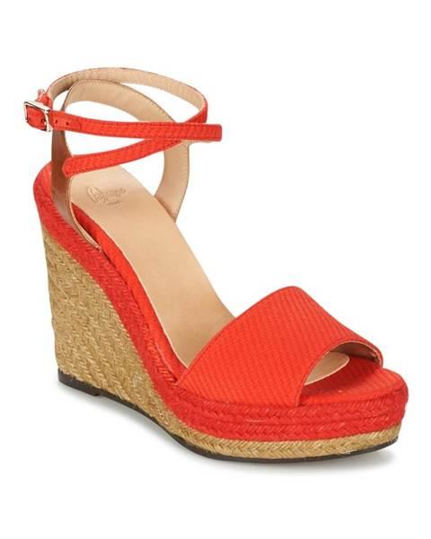 Červené sandále Castaner