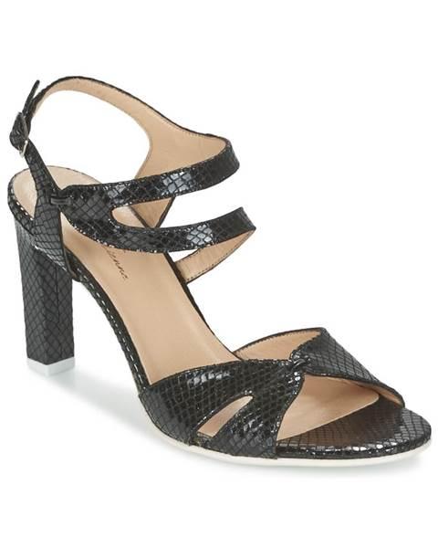 Čierne sandále France Mode