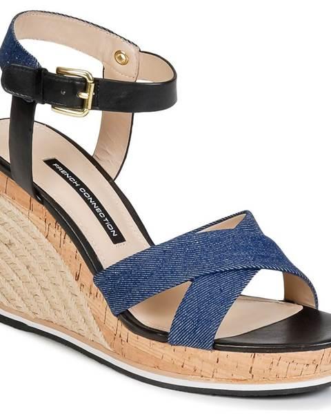 Modré sandále French Connection
