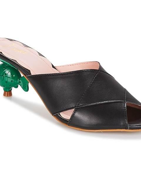 Čierne sandále Miss L'Fire
