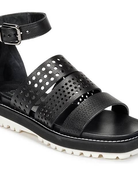 Čierne sandále Now