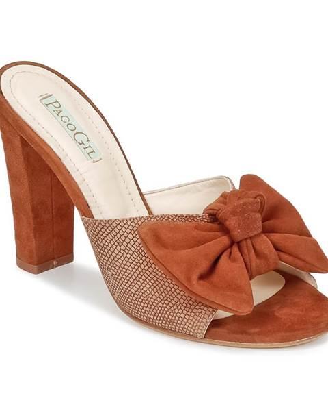 Hnedé topánky Paco Gil
