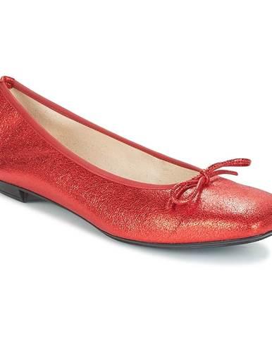 Červené balerínky Elizabeth Stuart